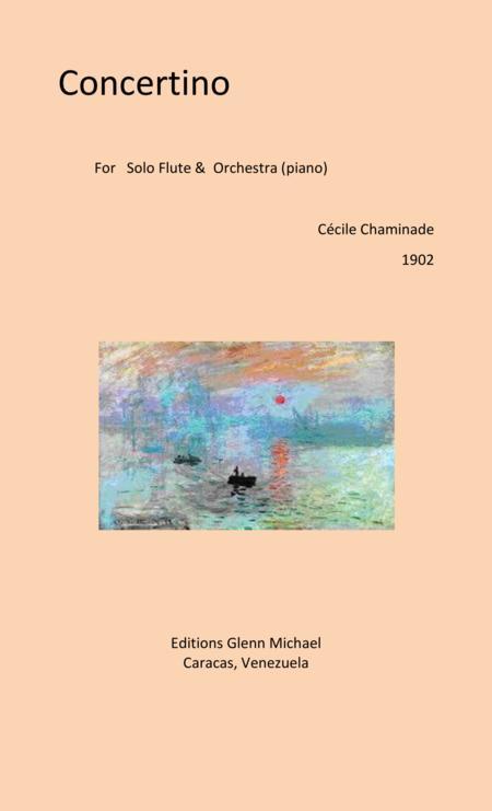 Chaminade, Concertino for Solo Flute