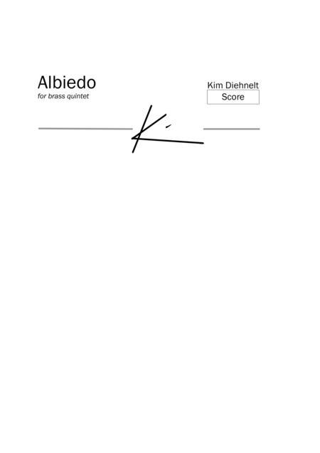 Diehnelt: Albiedo for brass quintet (Score)