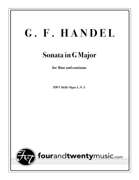Sonata in G Major for Flute and Continuo, HWV 363b/Op 1 no. 5