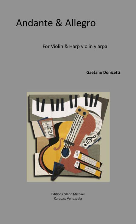 Andante & Allegro for Violin & Harp  or Piano