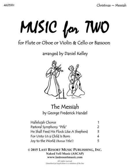 Handel's Messiah - Duet - for Flute or Oboe or Violin & Cello or Bassoon - Music for Two
