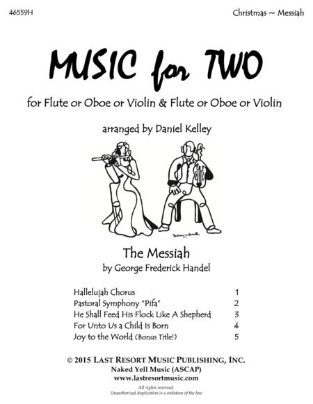 Handel's Messiah - Duet -  for Flute or Oboe or Violin & Flute or Oboe or Violin - Music for Two