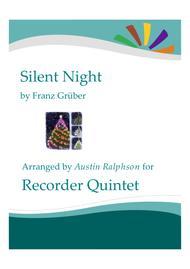 Silent Night - recorder quintet