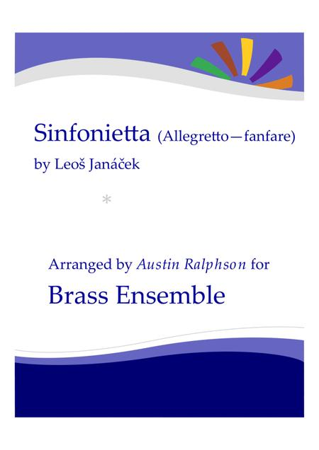 Sinfonietta I. Allegretto (Fanfare) - brass ensemble