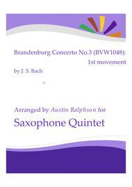 Brandenburg Concerto No.3, 1st movement - sax quintet