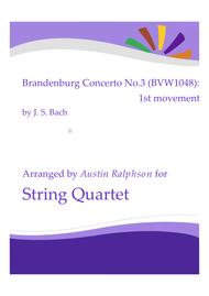 Brandenburg Concerto No.3, 1st movement - string quartet