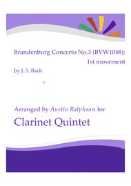 Brandenburg Concerto No.3, 1st movement - clarinet quintet