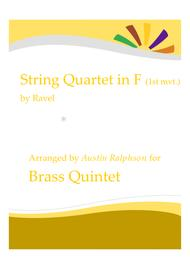 String Quartet in F for brass - brass quintet