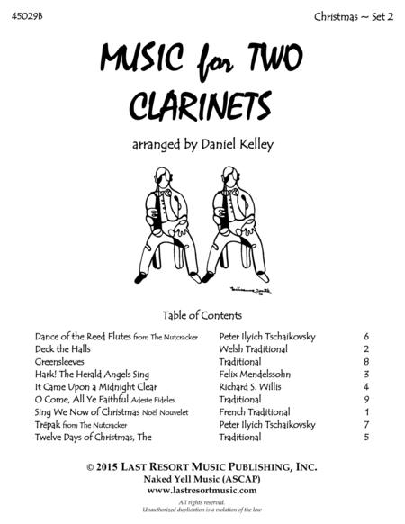 Christmas Duets for Clarinet - Set 2 - Music for Two Clarinets