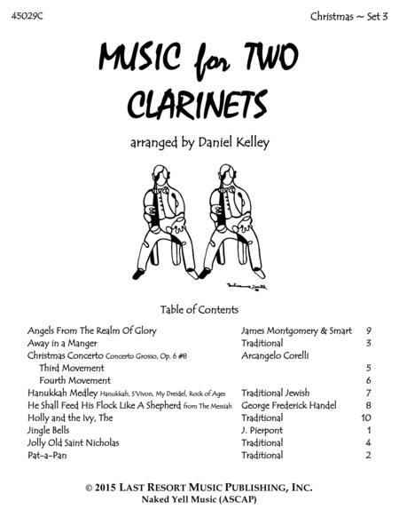 Christmas Duets for Clarinet - Set 3 - Music for Two Clarinets