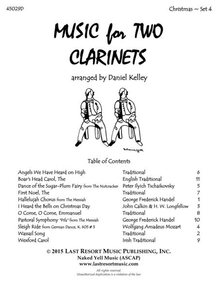 Christmas Duets for Clarinet - Set 4 - Music for Two Clarinets