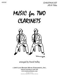 Christmas Duets for Clarinet -  Complete Set  - Music for Two Clarinets