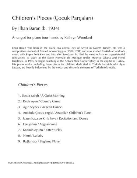 Children's Pieces (four-hands)