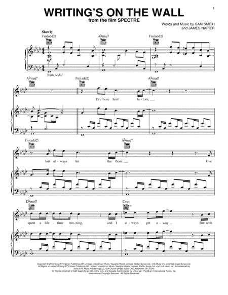 Download Writings On The Wall Sheet Music By Sam Smith Sheet
