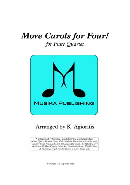 More Carols for Four! - Flute Quartet