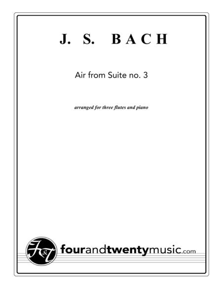 Air from Suite no 3, arranged for three flutes and piano