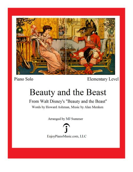Beauty and the Beast - Disney, Elementary Level for Easy Piano Solo