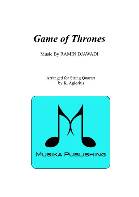 Game of Thrones - for String Quartet