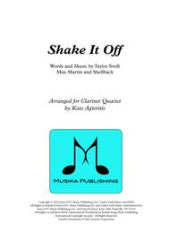 Shake it Off - for Clarinet Quartet