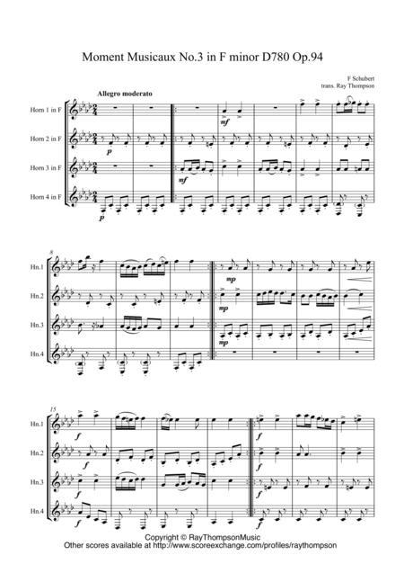 Schubert: Moment Musical No.3 in F minor D780 Op.94 - horn quartet
