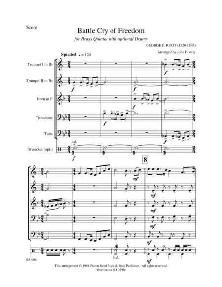Battle Cry of Freedom- brass quintet