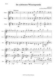 Im schönsten Wiesengrunde for 2 flutes and guitar