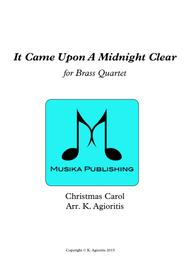 It Came Upon A Midnight Clear - Traditional and Jazz Arrangements for Brass Quartet