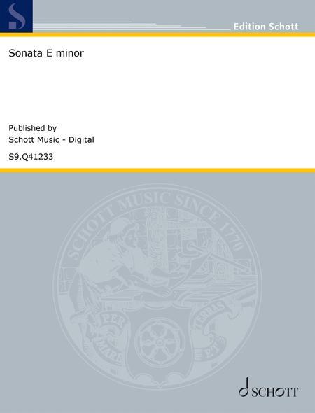 Sonata E minor