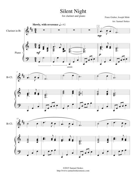 Silent Night - for B♭ Clarinet and Piano