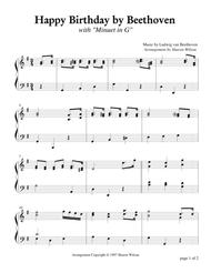 Beethoven Piano Variations 2 Learn to Play Present Piano SHEET MUSIC BOOK