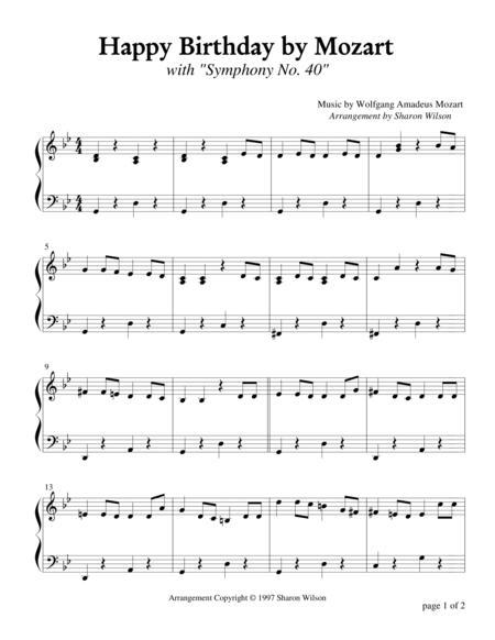 Happy Birthday by Mozart (Piano Solo)
