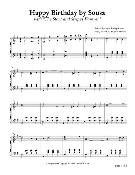 Happy Birthday by Sousa (Piano Solo)