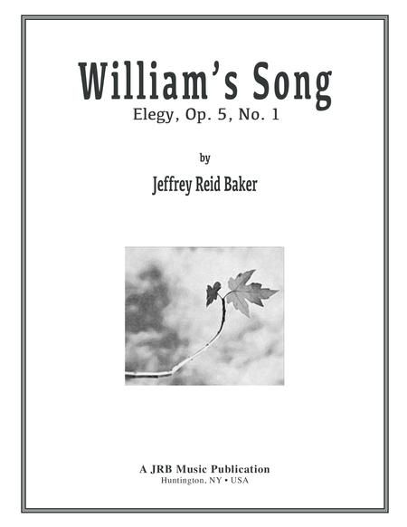 WILLIAMS SONG: Elegy Op. 5, No.1
