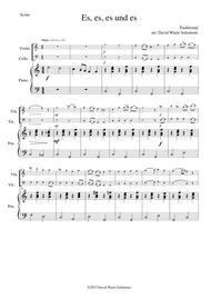Es es es und es for violin, cello and piano