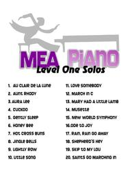 MEA Piano Level One Solos