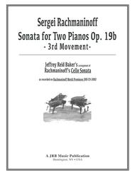 Rachmaninoff/Baker - Sonata for Two Pianos in G Minor: 3rd Movement
