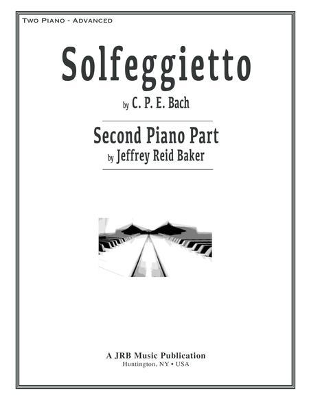 Solfeggietto (CPE Bach) 2-Piano Version (Jeffrey Reid Baker) 2nd Piano
