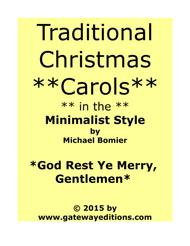 God Rest Ye Merry, Gentlemen from Traditional Christmas Carols in Minimalist Style
