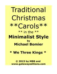 We Three Kings  from Traditional Christmas Carols in Minimalist Style