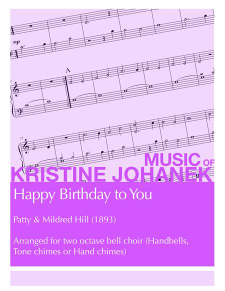 Happy Birthday to You (2 octave hand bells, tonechimes or hand chimes)