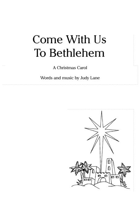 Come With Us To Bethlehem - For childrens choir (2 parts) and piano