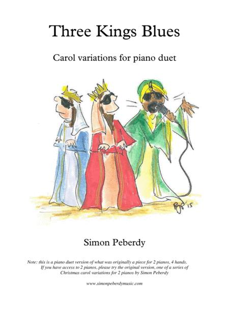 Three Kings Blues, for piano duet (variation on the Christmas carol