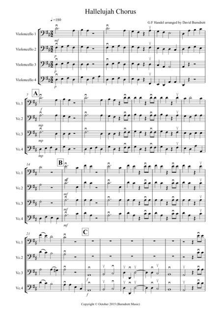 Hallelujah Chorus for Cello Quartet