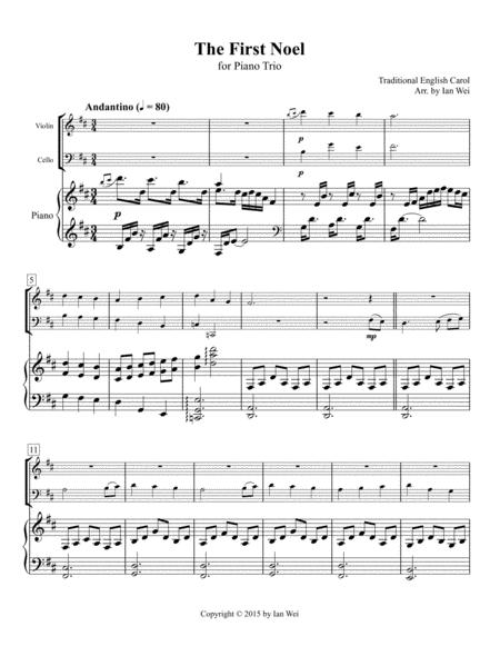 The First Noel for Piano Trio