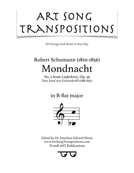 Mondnacht, Op. 39 no. 5 (B-flat major)