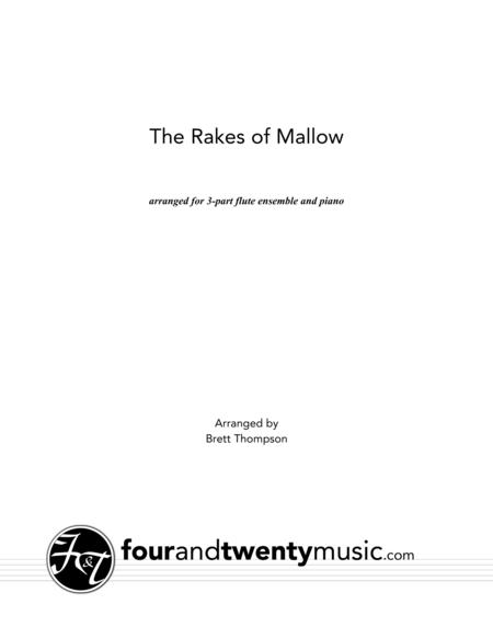 The Rakes of Mallow, arranged for two or three flutes and optional piano