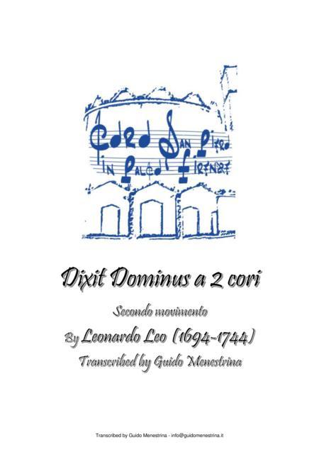 Leonardo Leo - Dixit Dominus a 2 cori, 1741, Secondo movimento