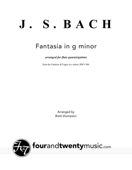 Fantasia in g minor, BWV 906, arranged for flute quartet or quintet