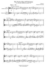 The Twelve Days Of Christmas (for viola duet, suitable for grade 2-6)