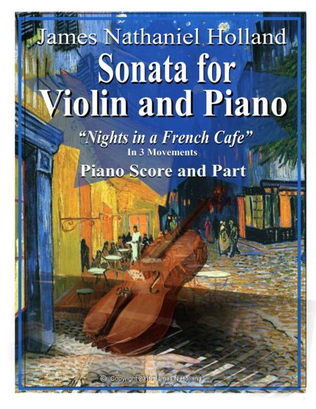 Sonata for Violin and Piano Nights in a French Cafe